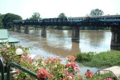 Train-crossing-Kwai-River-Bridge